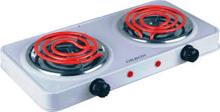2 Burner Cooktop Electric Orbon Double 1000w 1000w G Coil Electric Cooking Heater 2 Burner