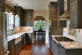 gray kitchen cabinet with black countertop 25 glamorous gray kitchens