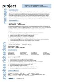 Project Manager Job Resume by Project Manager Resume Format 17 Project Manager Resume Templates