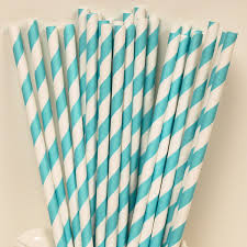 Tiffany Color Party Decorations Paper Straws Tiffany Blue Tiffany Blue Striped Straws Party