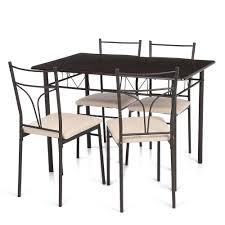 Modern Kitchen Table Sets 5 Piece Dining Set Modern Metal 4 Chairs And Kitchen Table I0o7 Ebay