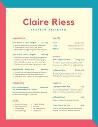 fashion resume templates fashion resume cv cool colorful resume templates free free career