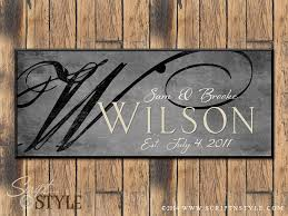 personalized family established sign family name sign with