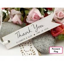 Wedding Gift Tags Personalized White Wedding Favor Thank You Gift Tags Set B