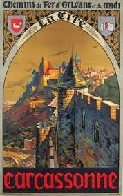 bureau de change carcassonne illustration affiche de tourisme carcassonne vintage travel