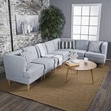 Modern Fabric Sofa Sets Milltown Mid Century Modern Fabric 7 Sectional