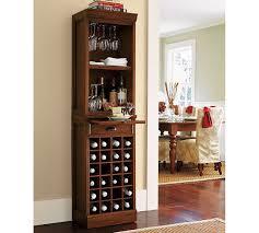 Bar Hutch Cabinet Modular Bar With Wine Grid Tower Pottery Barn