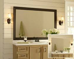 Mirror For Bathroom by Framed Bathroom Mirror Houzz Pertaining To Framed Mirrors For