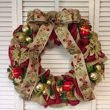 burlap christmas wreath large and gold christmas wreath burlap christmas wreath