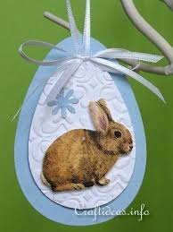 paper craft for paper easter egg and bunny ornaments