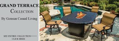 view all gensun grand terrace cast aluminum patio furniture sets