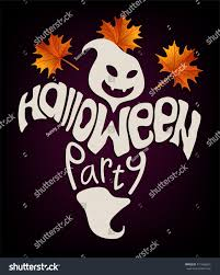 halloween breast cancer ribbon background vector happy ghost lettering halloween party stock vector