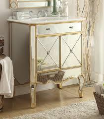 mirror vanities for bathrooms adelina 30 inch mirrored gold bathroom vanity marble top