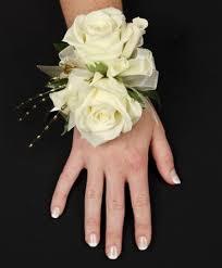prom wristlets white glitter prom corsage flower shop network