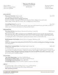 College Job Resume by Stunning Freshman College Student Resume 34 For Simple Resume With