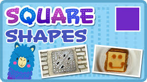 learn the square shape in english shape learning videos for kids