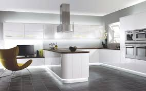 Gloss White Kitchen Cabinets White Kitchen Cabinets Dark Tile Floor Outofhome