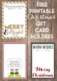 printable gift cards printable christmas gift card holders the girl creative