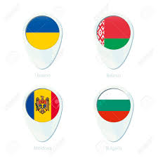 Moldova Flag Ukraine Belarus Moldova Bulgaria Flag Location Map Pin Icon