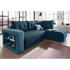 canapé d angle méridienne canapé d angle convertible tissu bi matière étagère rangement
