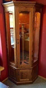 Wood Gun Cabinet 8 Gun Carousel Corner Gun Cabinet Amish Traditions Wv
