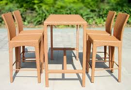Outdoor Bar Setting Furniture by Outdoor Furniture Bar Table Rattan Chair Bar Stool Tall Tables And