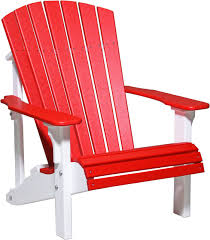 Amish Poly Outdoor Furniture by Luxcraft Poly Deluxe Adirondack Chair Swingsets Luxcraft Poly