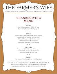 thanksgiving traditional thanksgivingr menu list thanksgiving
