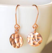 gold disc earrings hammered gold disc earrings on luulla