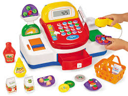 amazon com lakeshore let u0027s go shopping cash register toys u0026 games