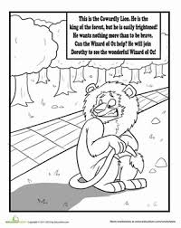 wizard of oz coloring pages and worksheets education com