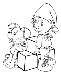noddy coloring pages kids printable free coloing 4kids