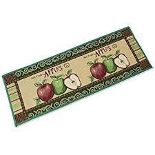 amazon com apple pattern kitchen rugs non slip extra long kitchen