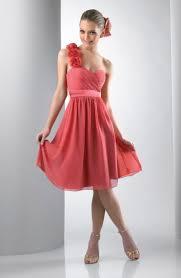 rosette one shoulder short bari jay bridesmaid dress 102 french