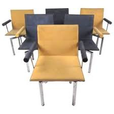 Chairs Israel Set Of 4 Steel And Maple Memphis Style Dining Chairs By Nia Made