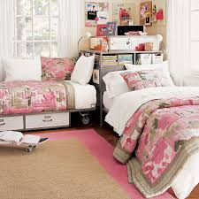 great girly bedroom corner option for sharing a room pottery