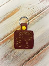 wine glass keychain wine glass keychain vino keychain wine key chain wine