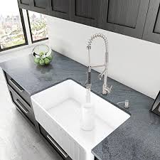 single kitchen sink faucet vigo 36 inch farmhouse apron single bowl matte kitchen sink