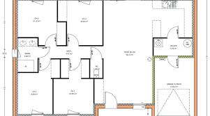 plan maison 4 chambre plan maison en l 4 chambres plan plain pied plan de maison 100m2