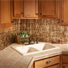 Aluminum Backsplash Kitchen Fasade 24 In X 18 In Traditional 1 Pvc Decorative Backsplash