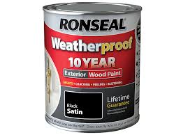 Exterior White Wood Paint - ronseal rslwppbws750 750 ml weatherproof exterior wood paint