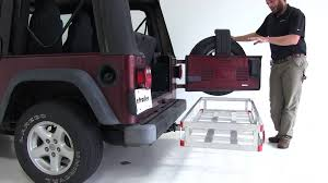 jeep wrangler storage review of the maxxtow hitch cargo carrier on a 2004 jeep wrangler