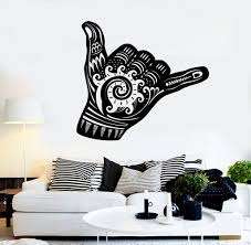 vinyl wall decal shaka sign hang loose surfing wave stickers mural vinyl wall decal shaka sign hang loose surfing wave stickers mural ig4365