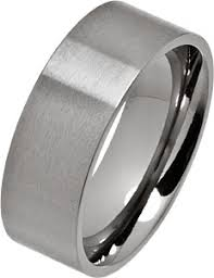 titanium wedding rings 8mm brushed flat titanium wedding ring ti21