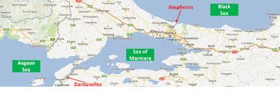 Bosphorus Strait Map 13 January 2013 Change Here