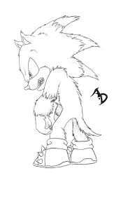 sonic the werehog coloring pages kids coloring pictures