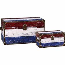American Flag Design Household Essentials Decorative Storage Trunk American Flag