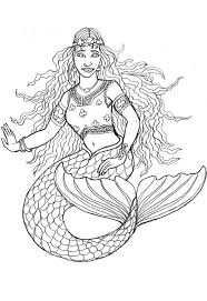 special free mermaid coloring pages 4318 unknown