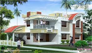 free online architecture design for home in india 2103 sq feet double floor home exterior kerala design and exterior