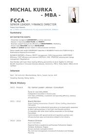 Resume Template Finance Finance Director Resume Template